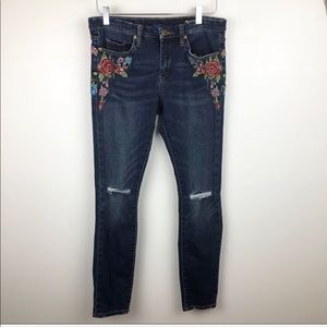 COPY - Blank NYC Floral Embroidered Skinny Jeans